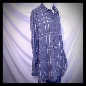 Zara woman | tunic | plaid grey | EUC | Small